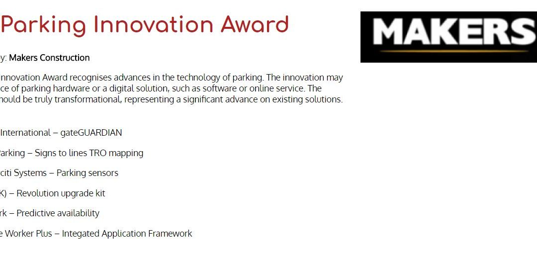 IPS (UK) Ltd. named as finalist in the Parking Innovation Award